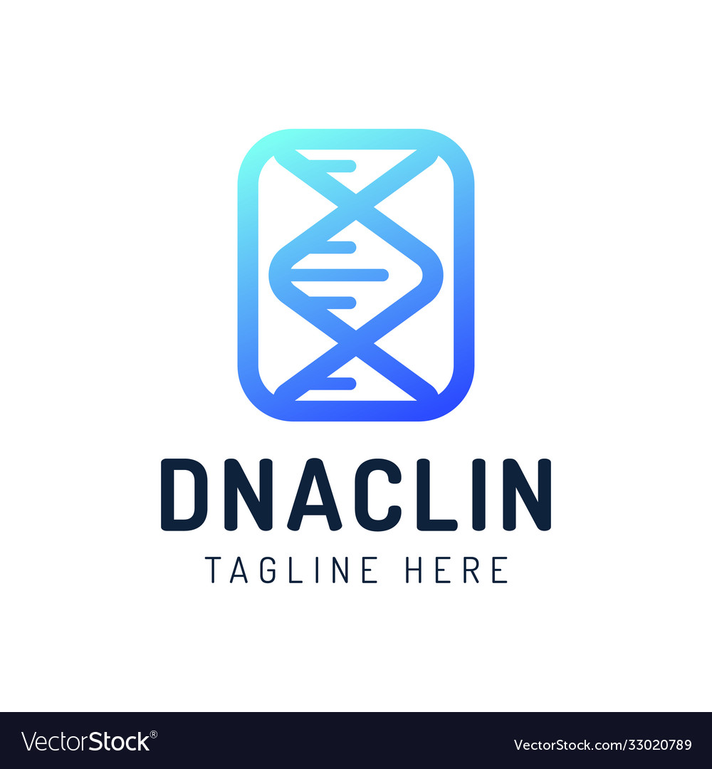 Dna gen molecule logo engineering biotechnology