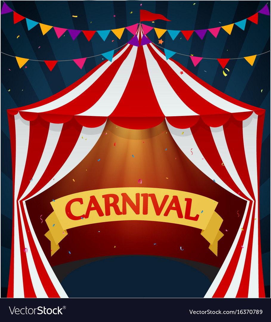 Funfair and carnival background vector image