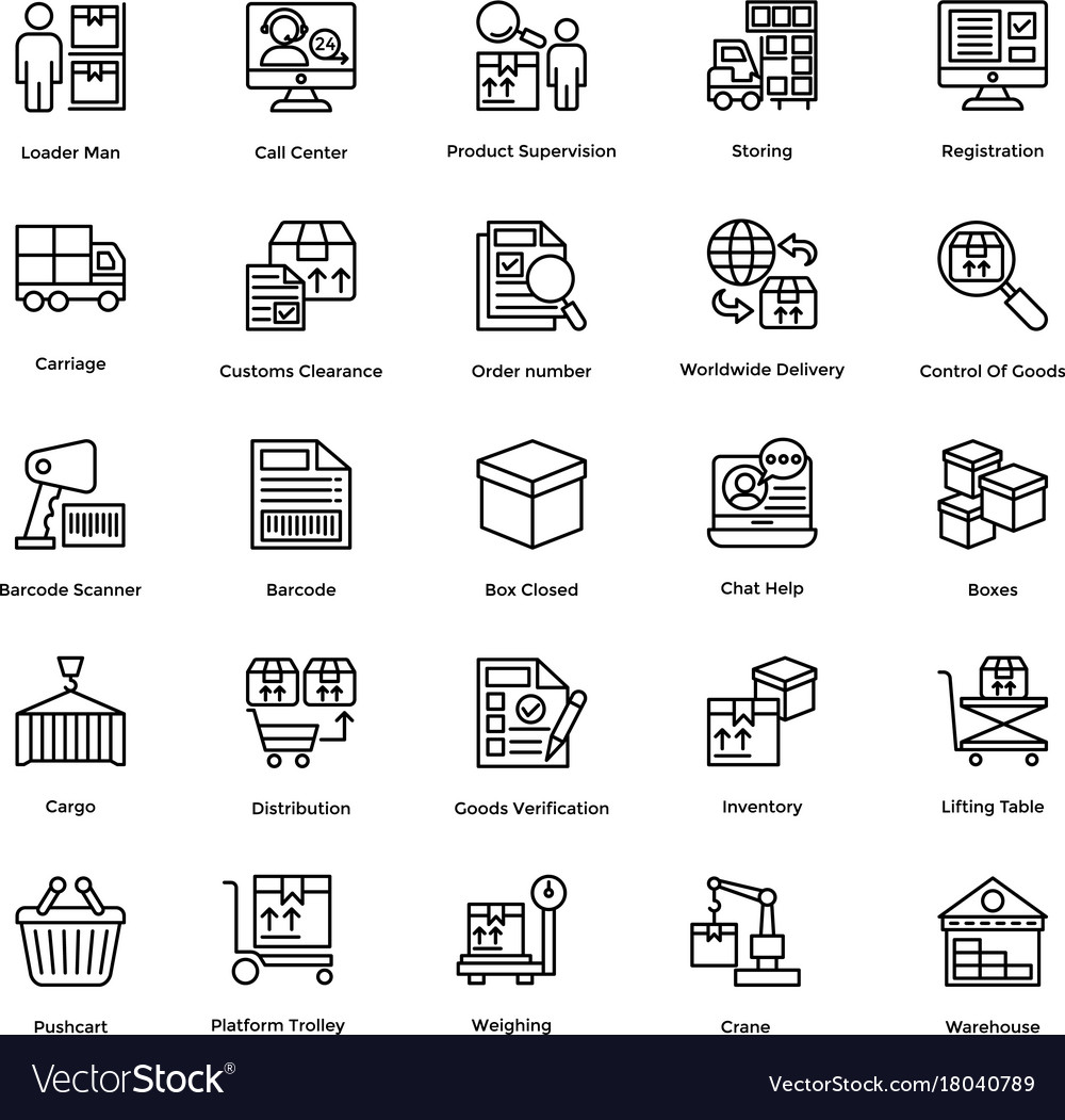 Logistic delivery icons set 8 vector image