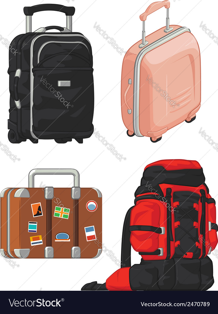 Travel Suitcase and Mountain Bag