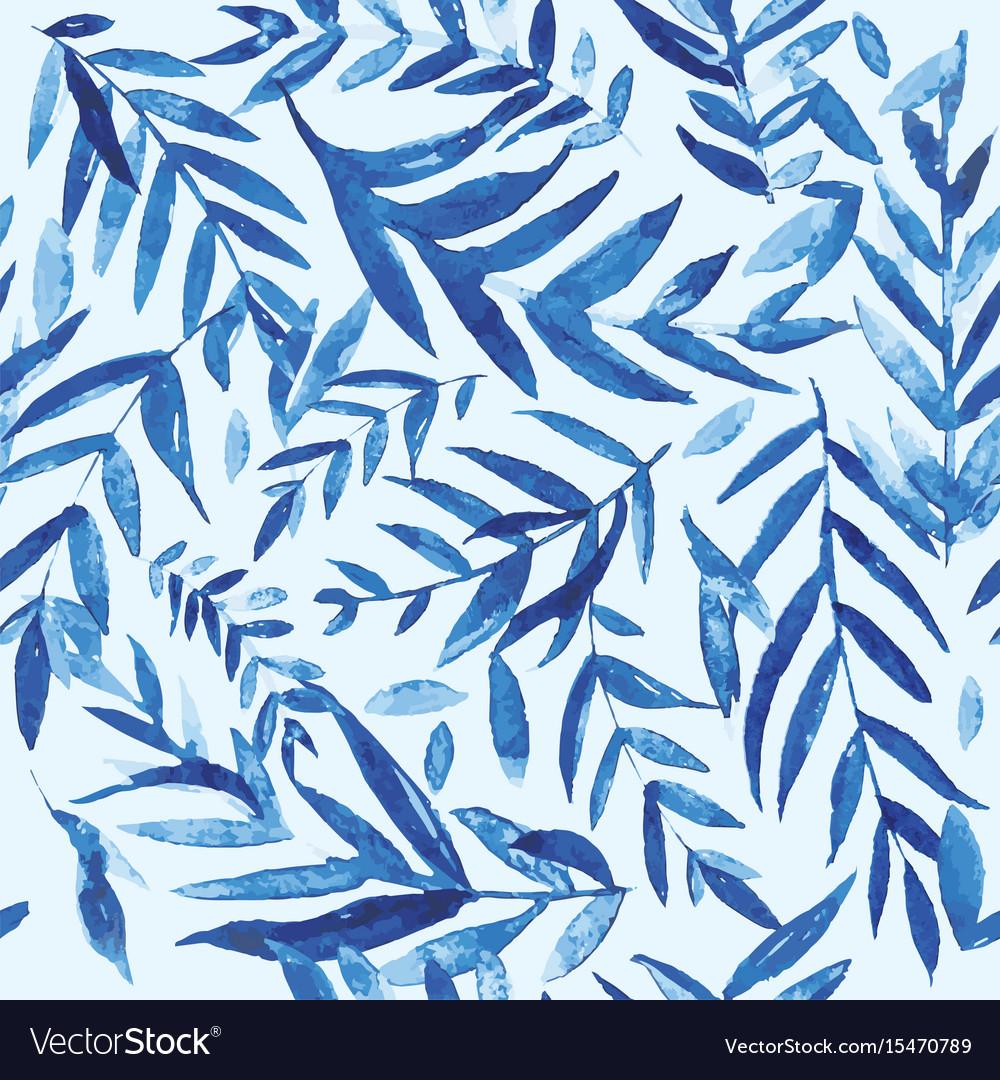 Watercolor branch pattern vector image