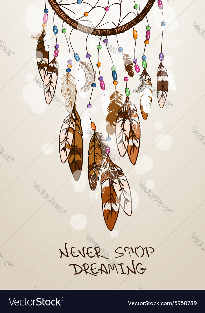 With American Indians dreamcatcher