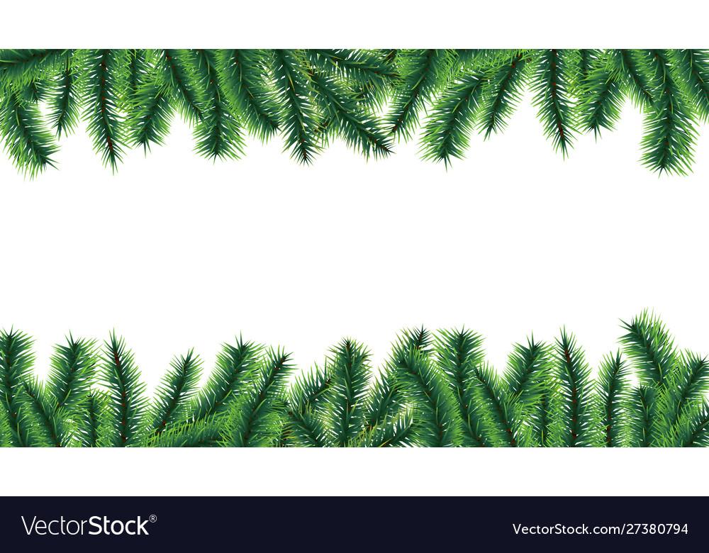 Christmas tree border holiday banner fir