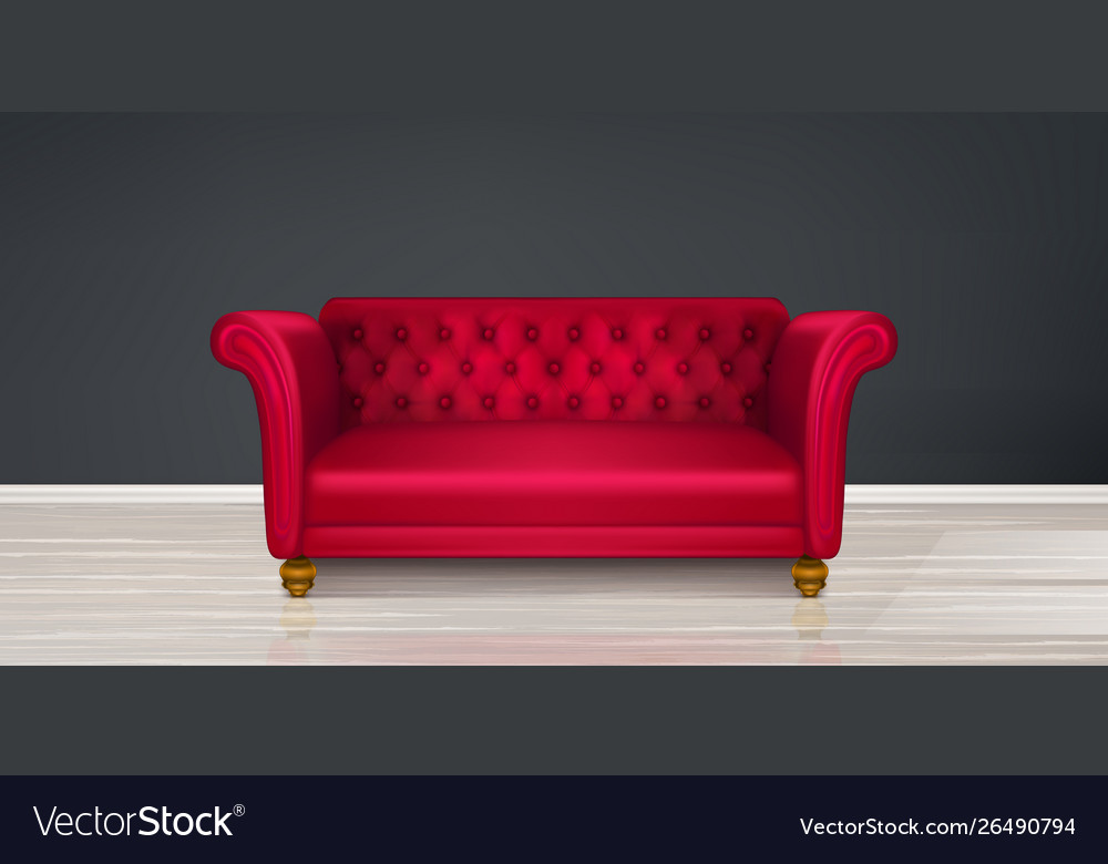 Red couch sofa modern dwelling interior design