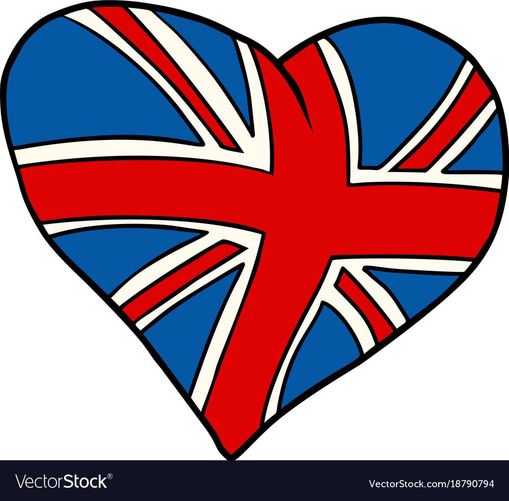 United Kingdom Heart Patriotic Symbol Royalty Free Vector
