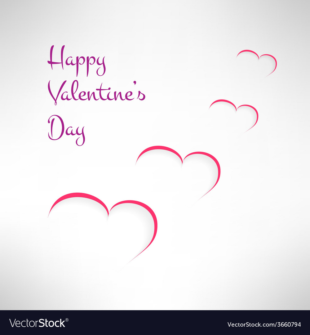 Valentines Card Background With Red And White Vector Image