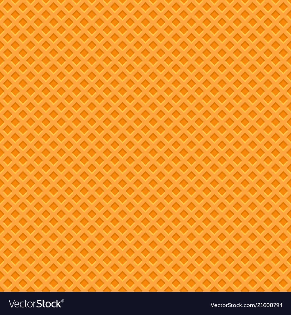 Yellow waffle texture pattern seamless background