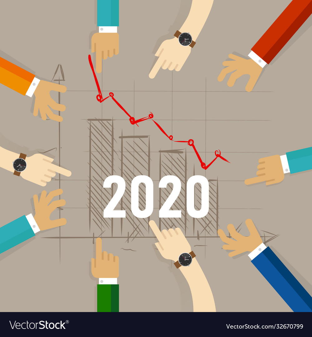 2020 chart going down concept recession