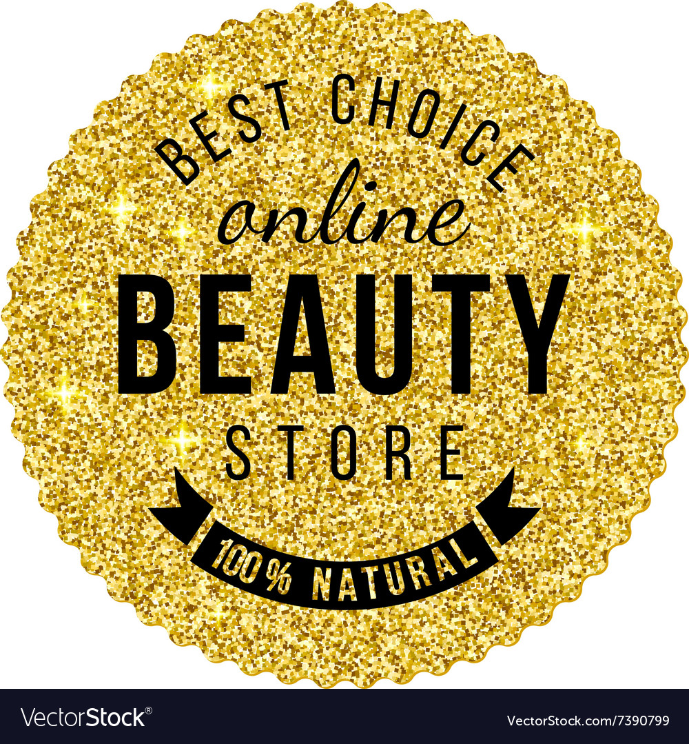 Beauty store emblem with type design