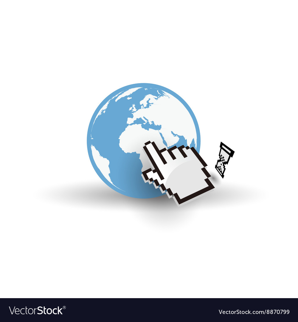 Internet access vector image