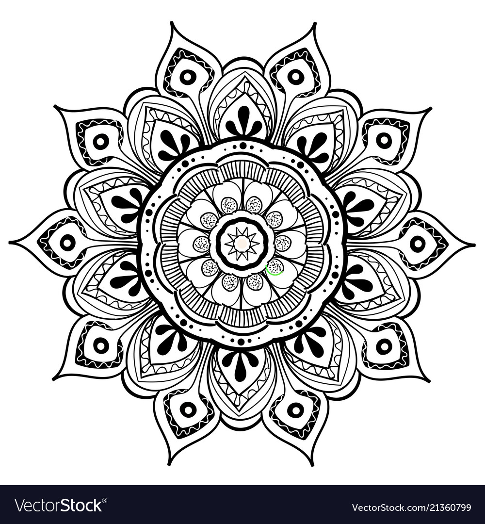 Mandala Design Element Round Ornament Royalty Free Vector
