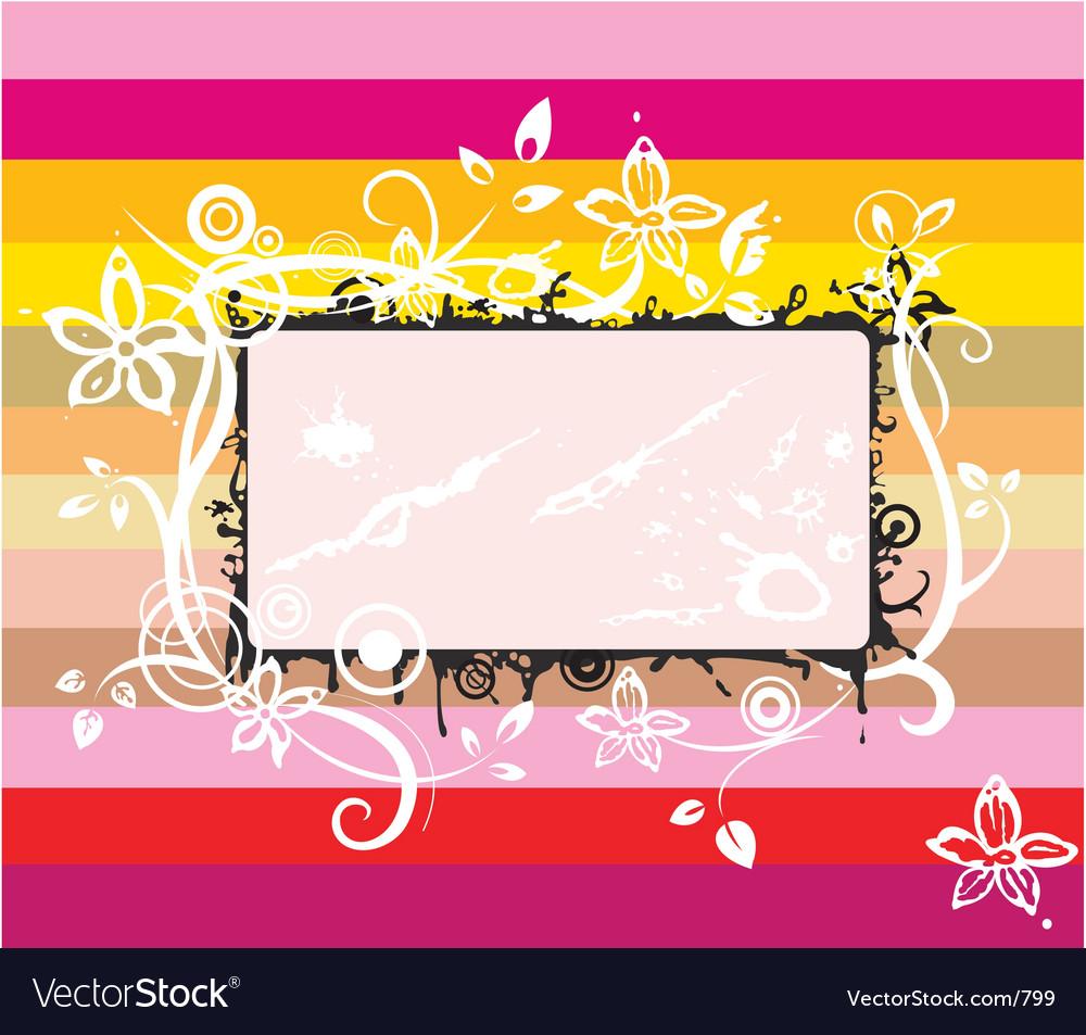 Rainbow frame Royalty Free Vector Image - VectorStock