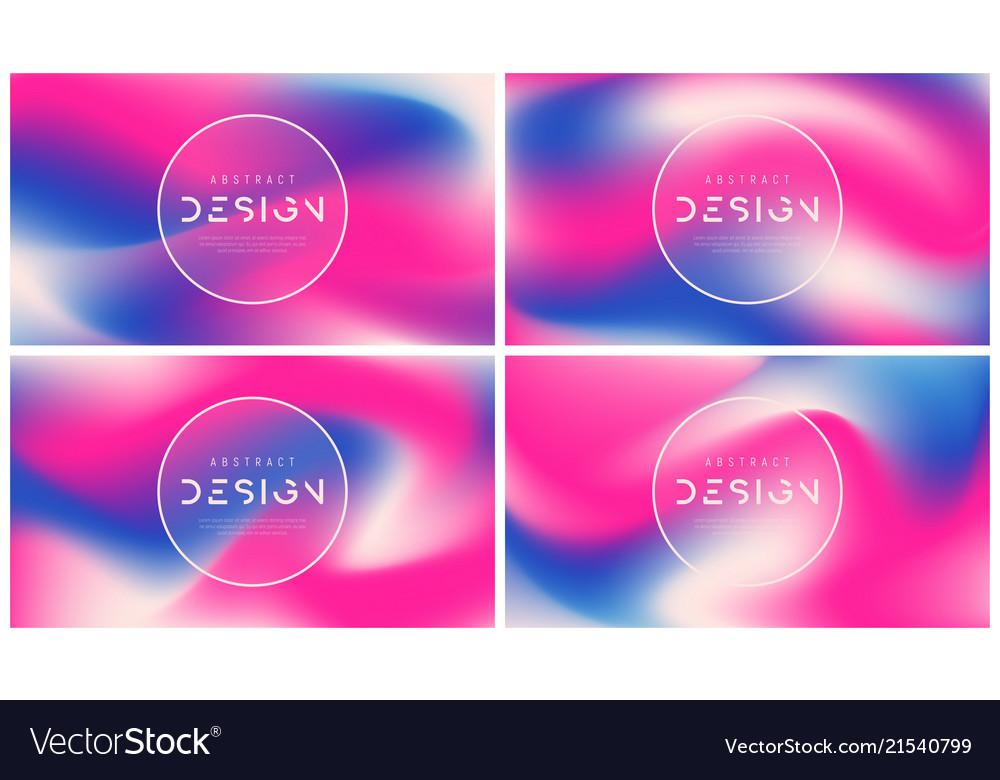 Set abstract colorful backgrounds