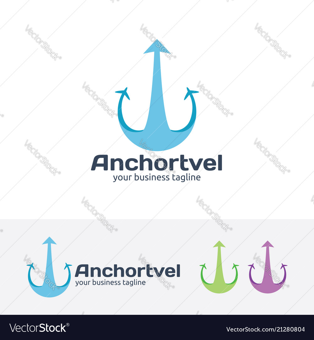 Anchor travel logo design