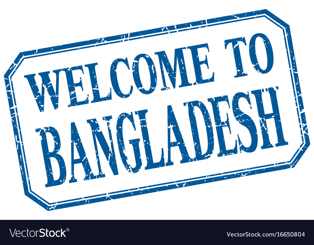 Bangladesh - welcome blue vintage isolated label vector image
