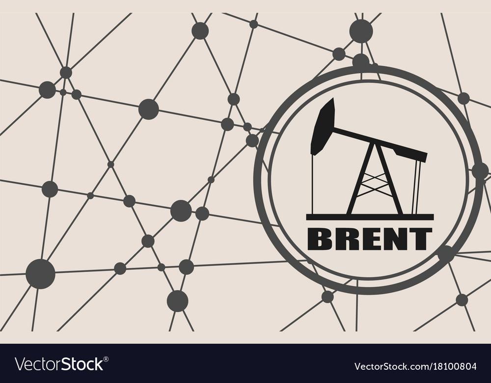 Brent Crude Oil Presentation Banner Royalty Free Vector