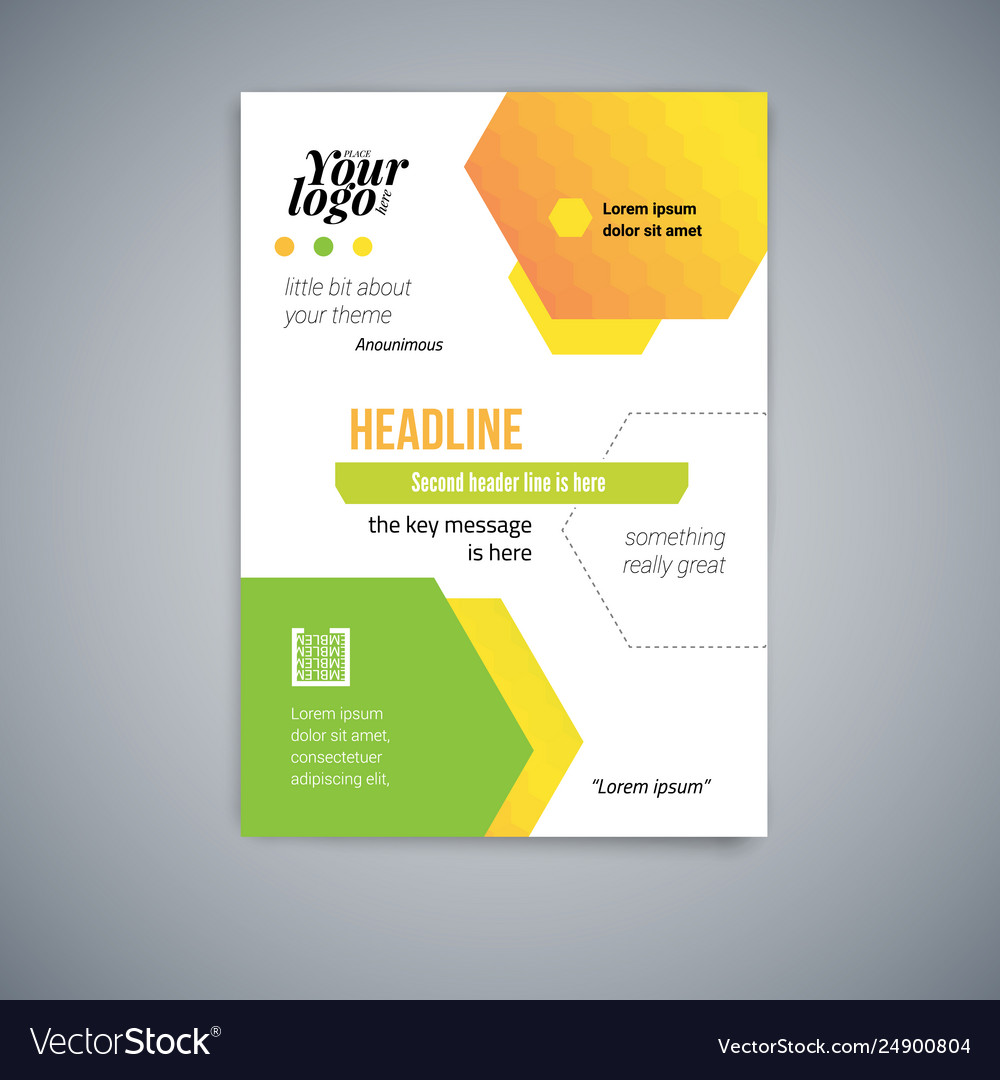 Business abstract template flyer design