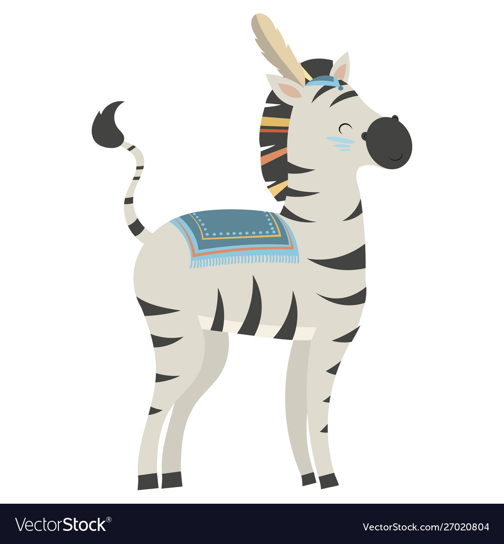 Cartoon zebra indian a