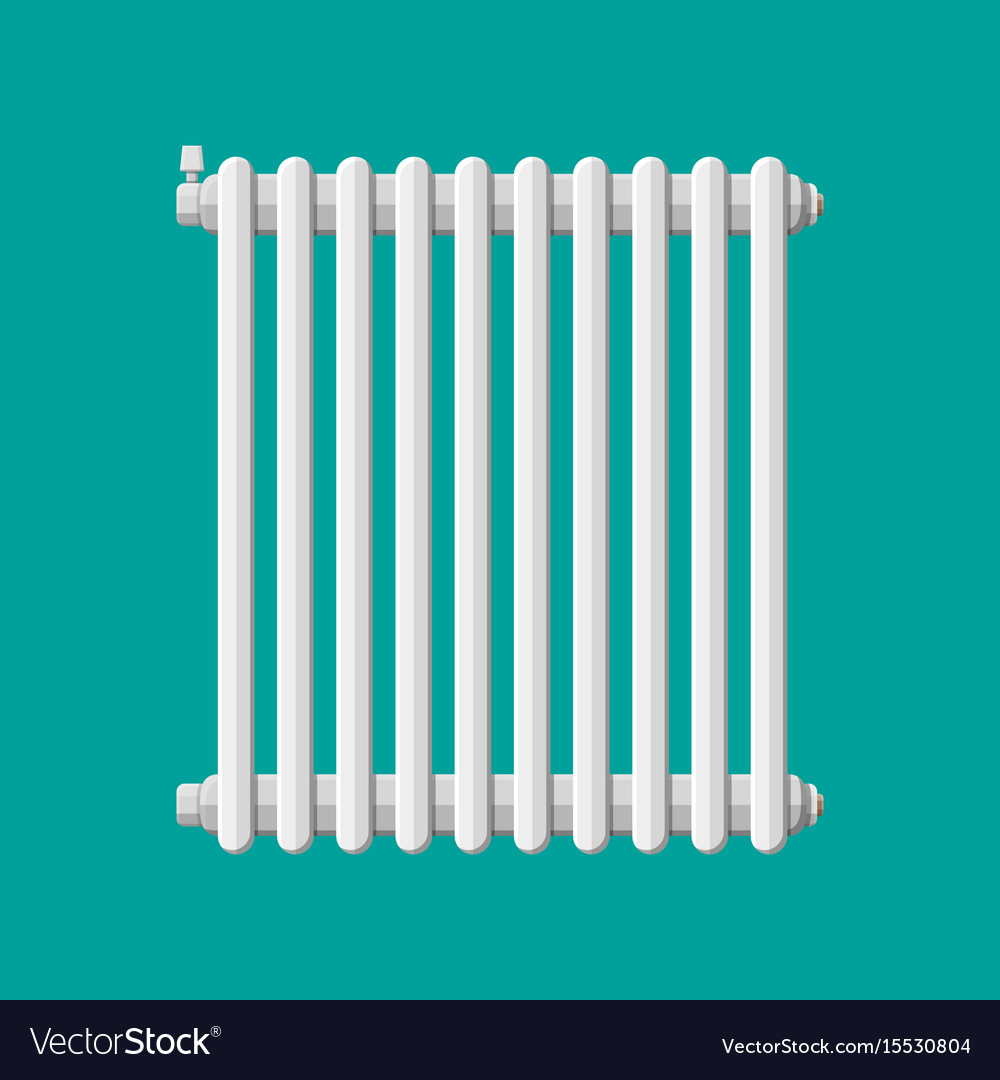 Heating radiator retro heating system Royalty Free Vector