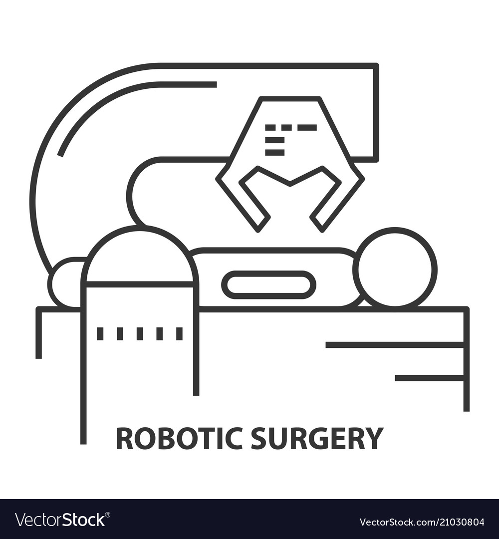 Robotic surgery icon