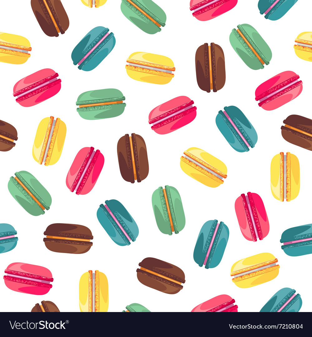 Seamless pattern with tasty donuts