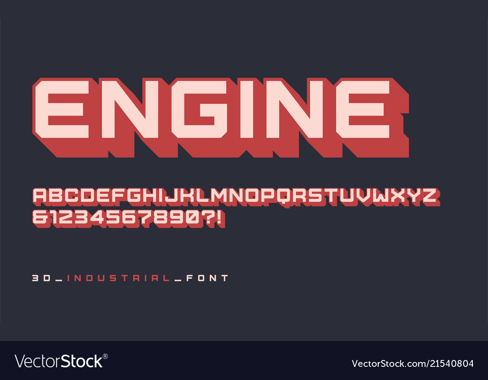 Styled sans serif industrial display font