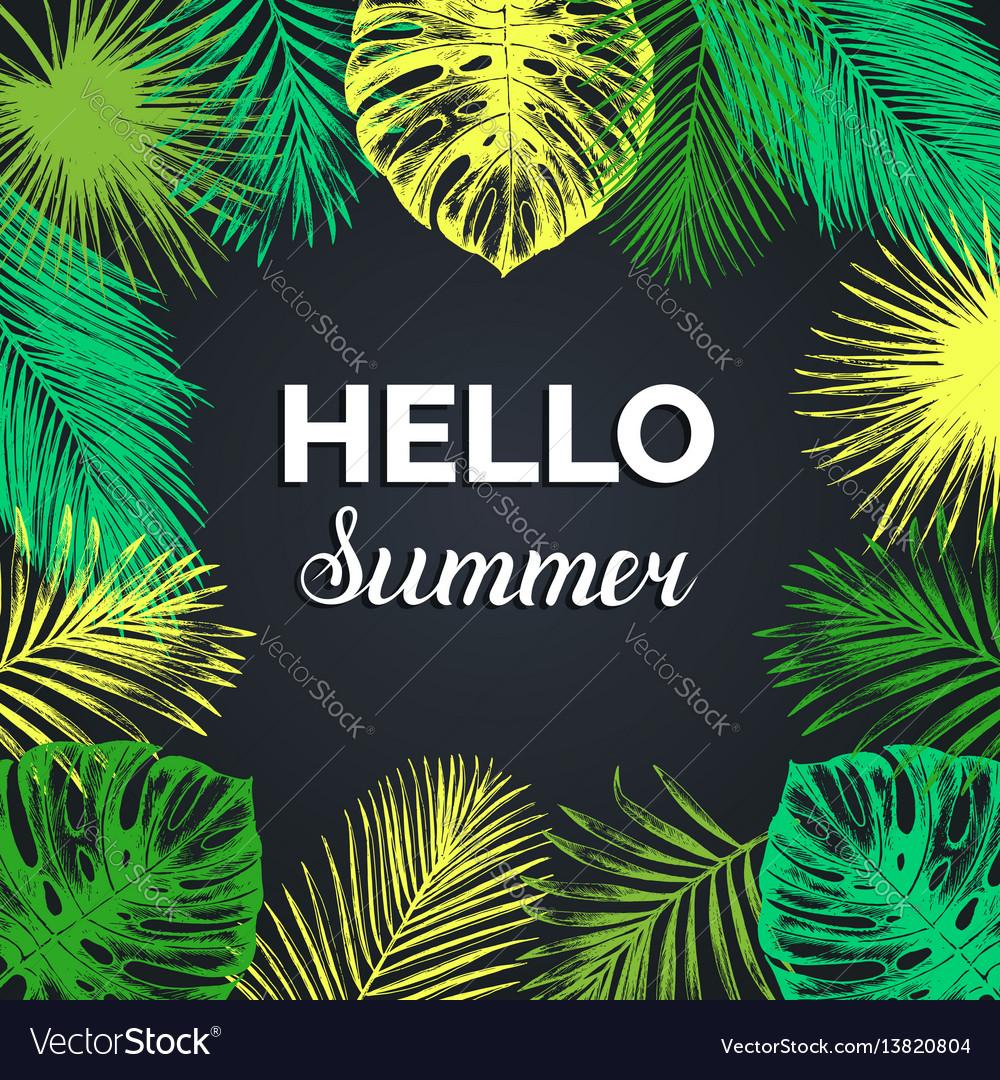 Vintage hello summer exotic