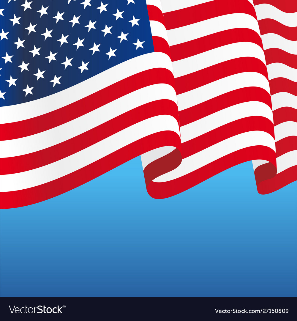 American flag wavy abstract background