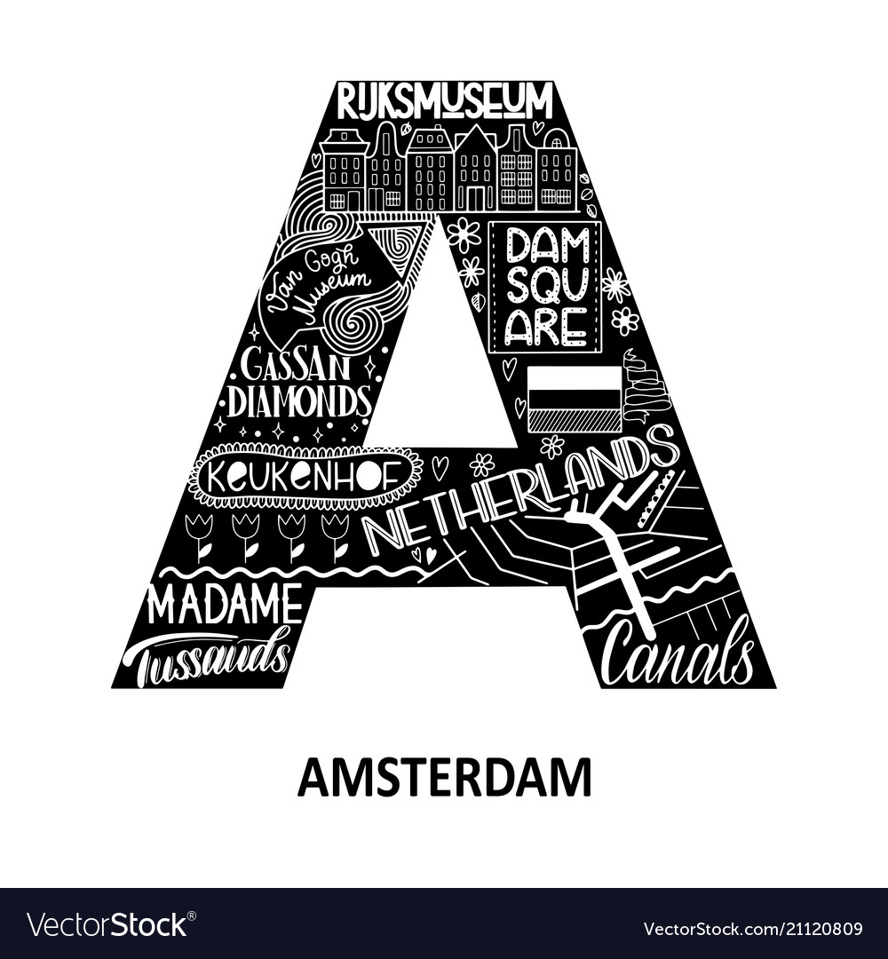Amsterdam abstract sight map