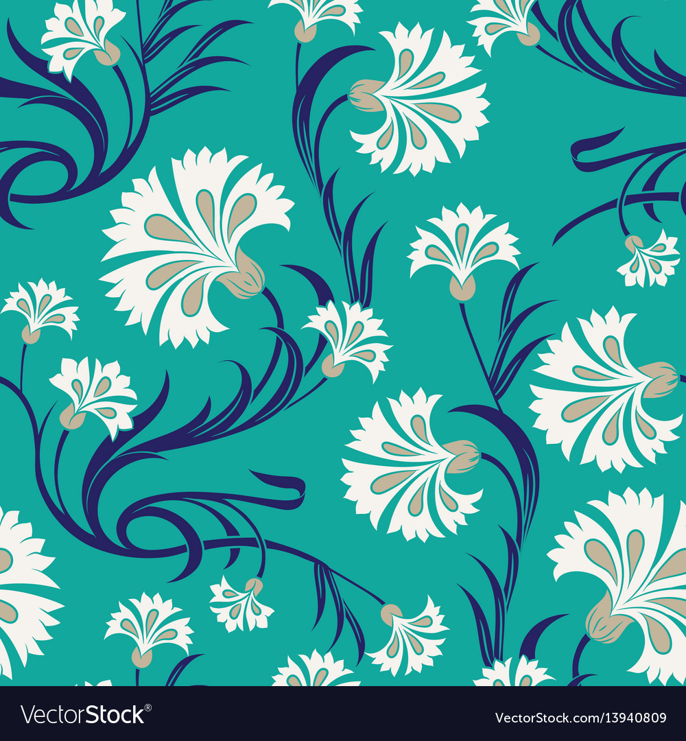 Carnations seamless pattern