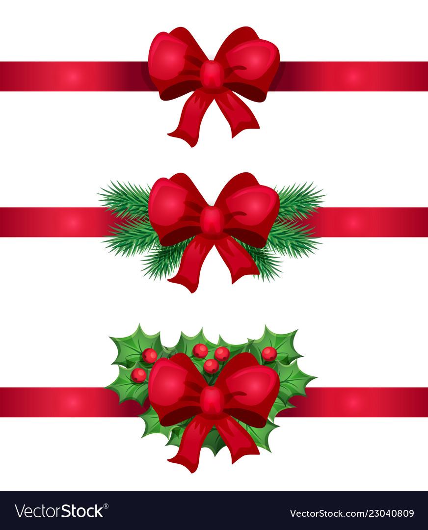 Christmas ribbon and bow decoration