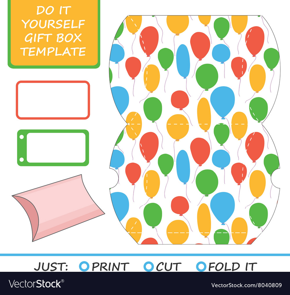 Favor gift box die cut box template great for vector image solutioingenieria Images