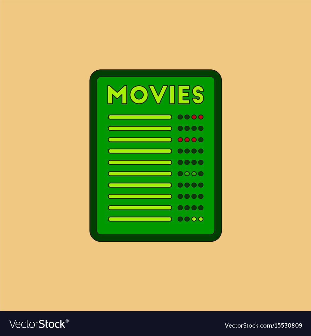 film list in flat style moive royalty free vector image