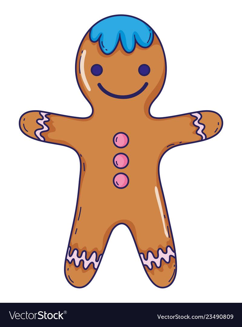 Gingerbread cookie cartoon