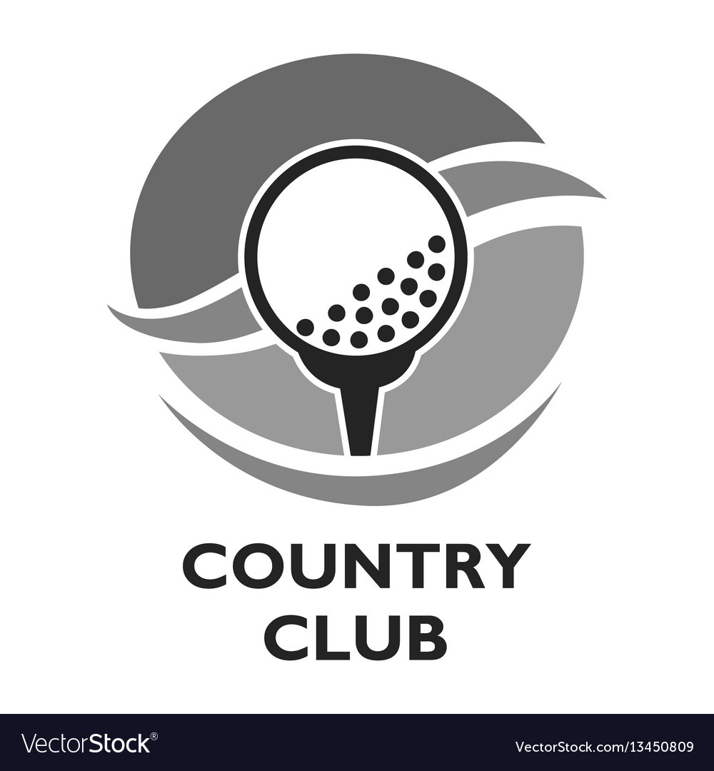 Golf country club logo template or icon for