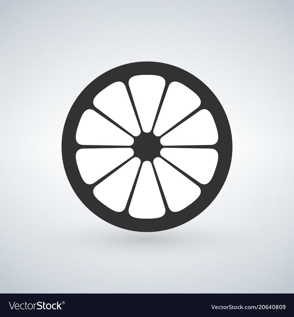Lemon black icon isolated on white background
