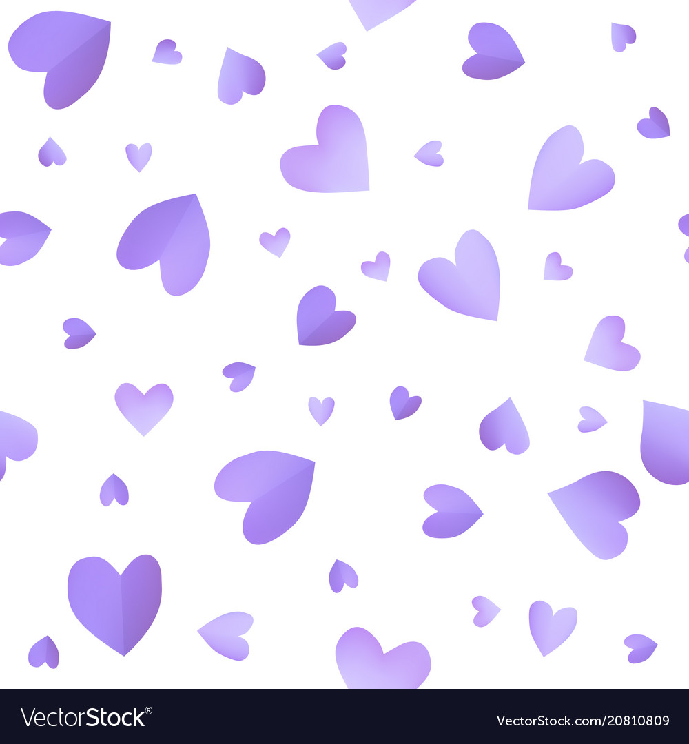 Seamless pattern background with violet hearts