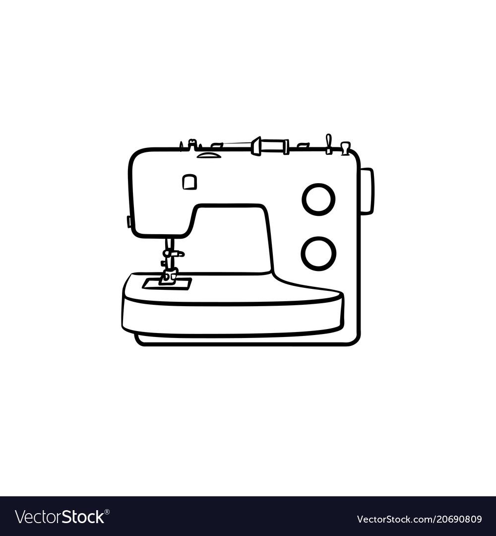 рисунок швейной машины карандашом успешной ловли жереха