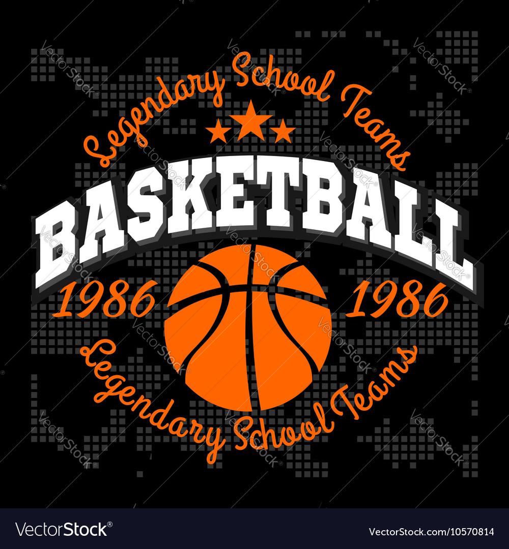 Basketball championship logo set and design