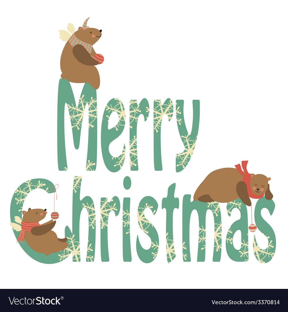 Bears celebrating Christmas