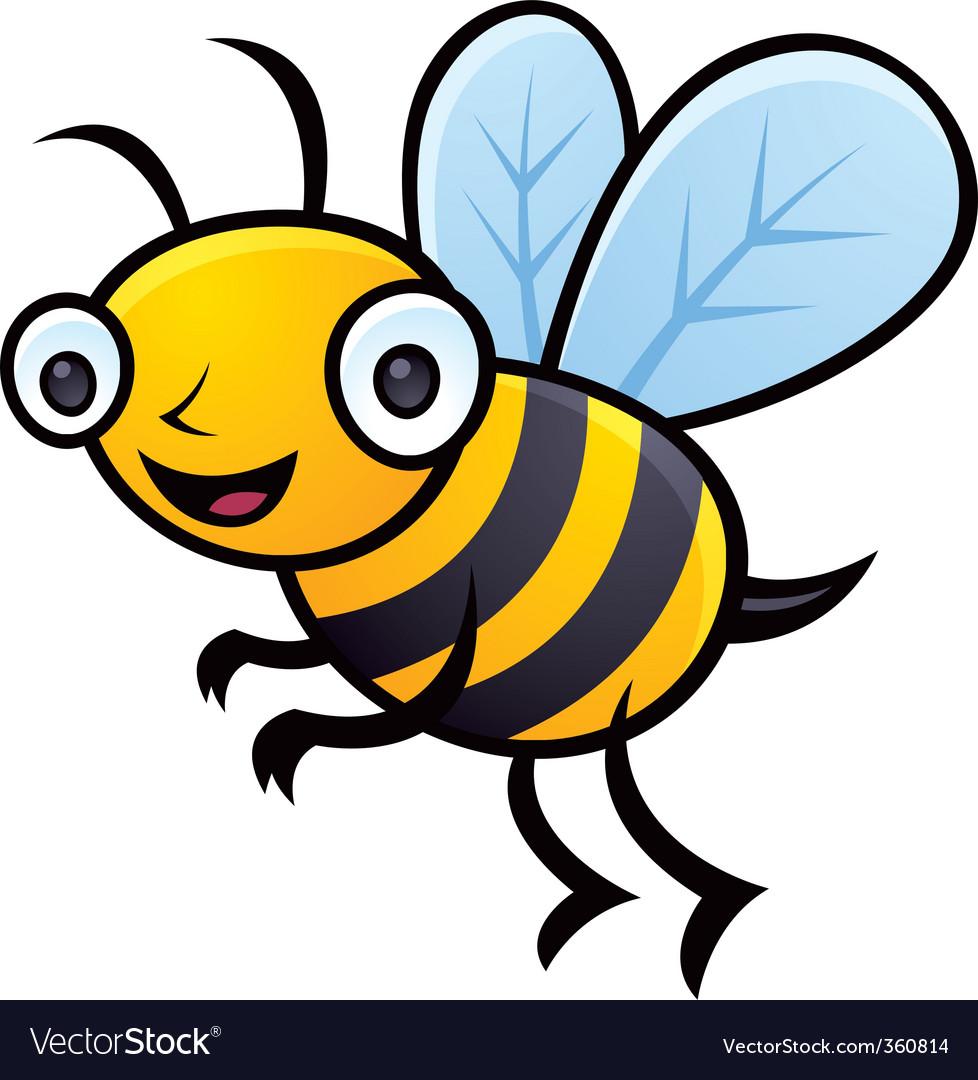bumblebee royalty free vector image vectorstock rh vectorstock com funny cartoon bumble bee images cartoon bumble bee clip art images
