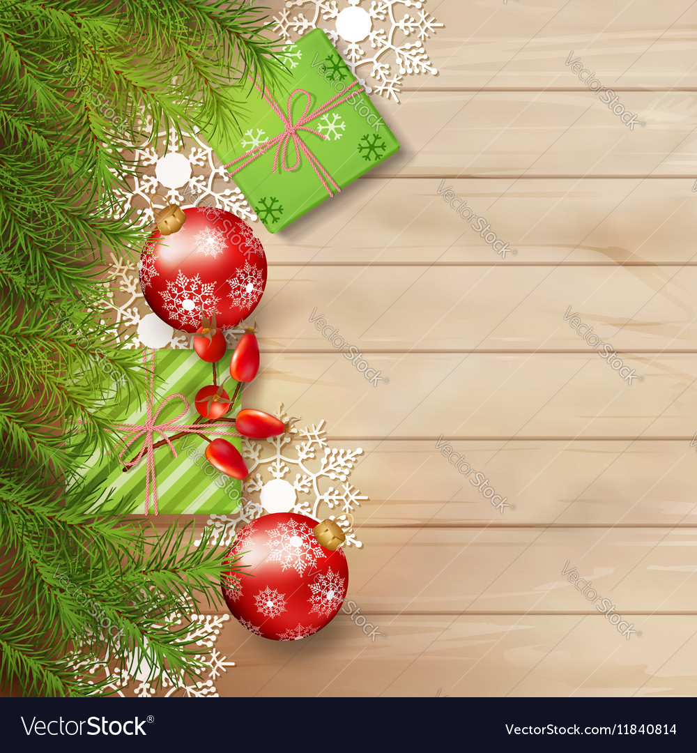 Christmas Tree Top View.Christmas Top View Background Vector Image