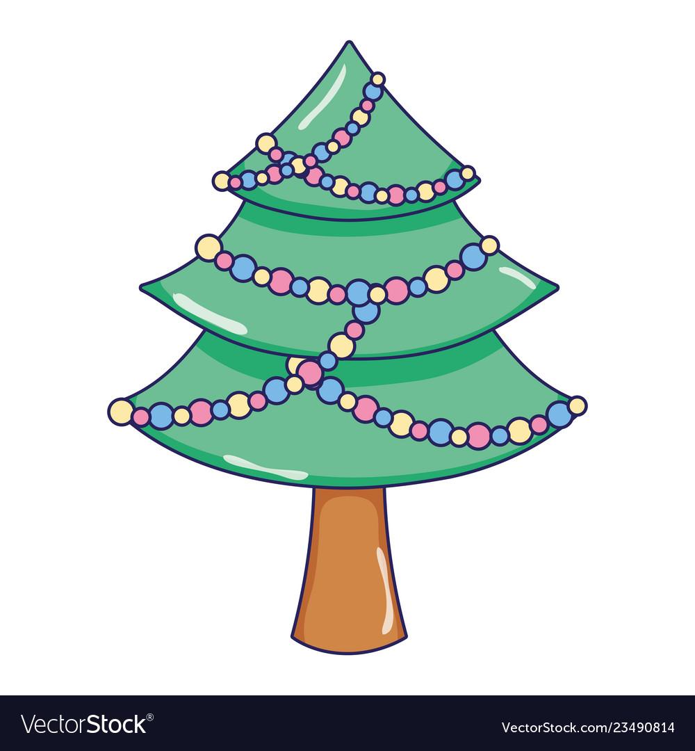 Christmas tree pine cartoon