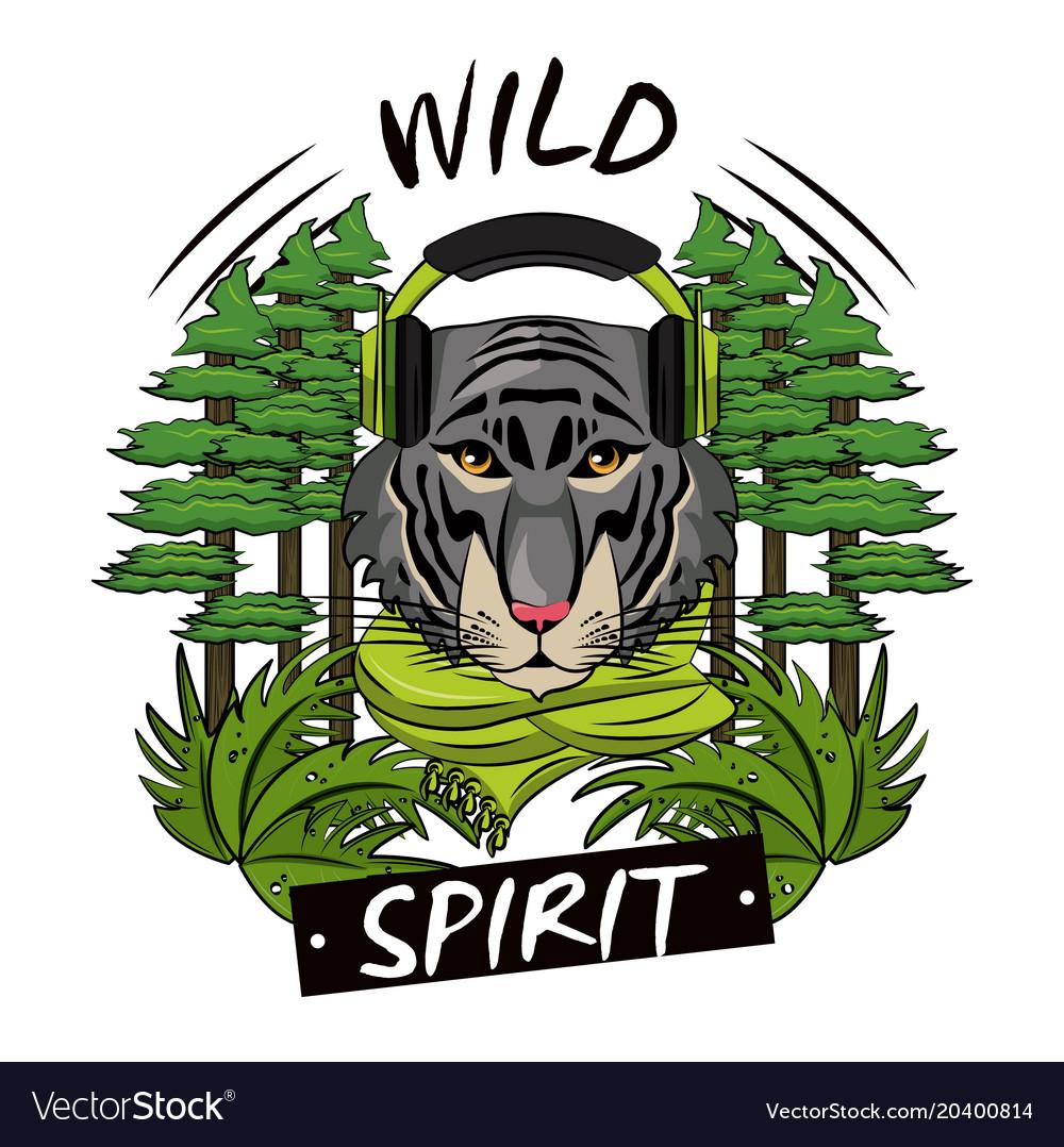 Cool wild animal print for t shirt