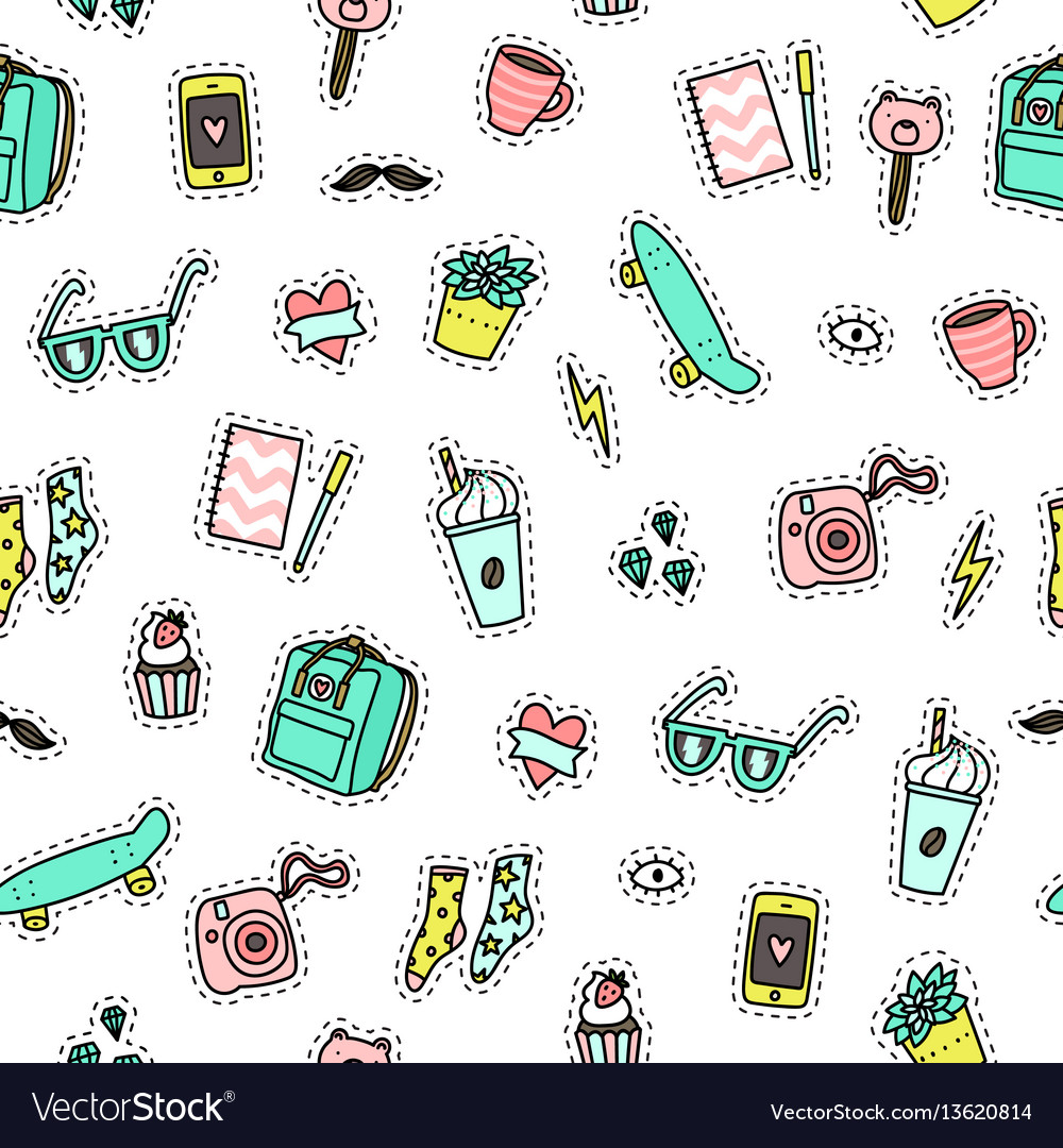 Hipster objects background