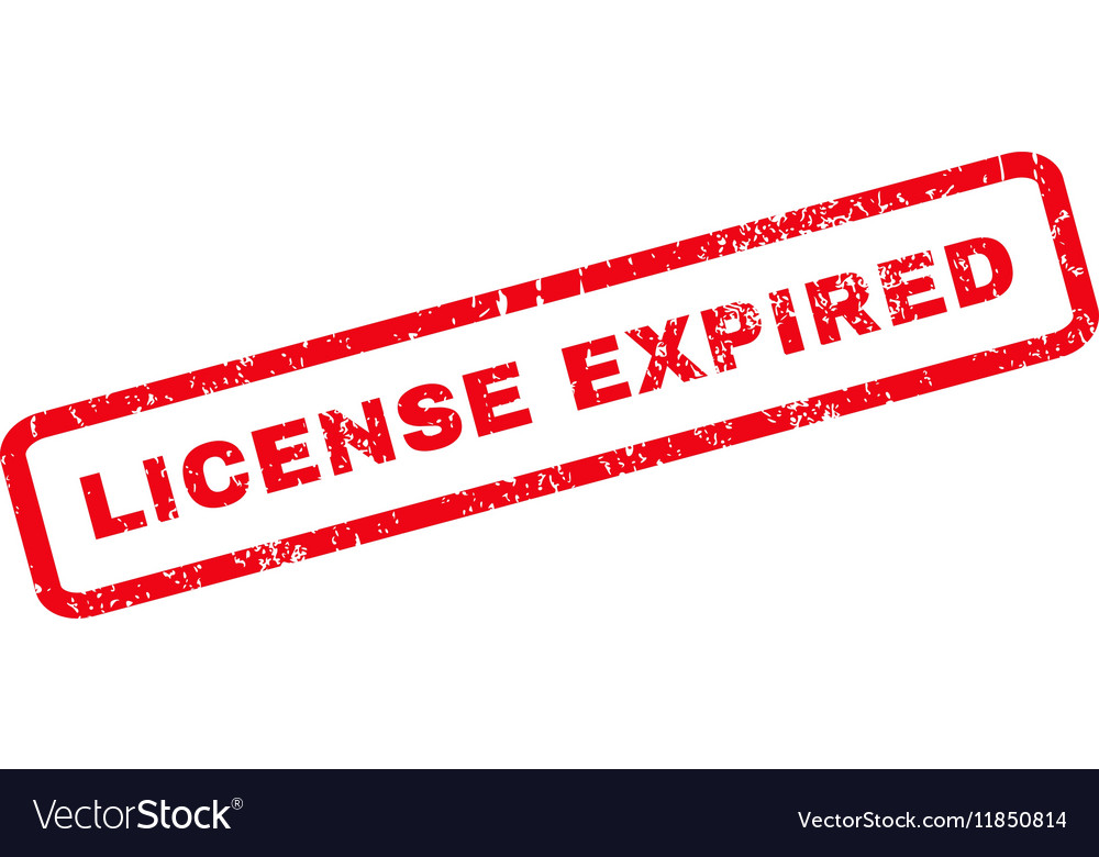 License Expired Rubber Stamp vector image