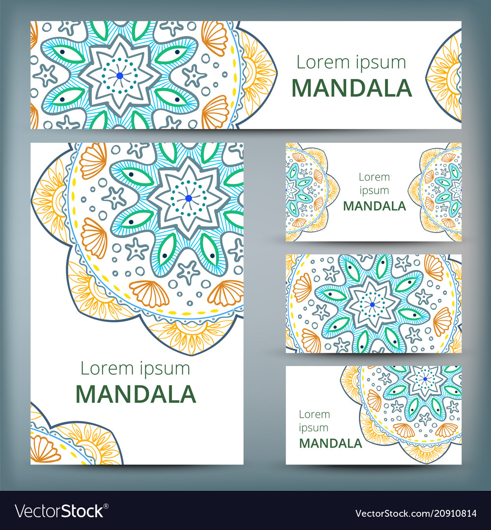 Mandala pattern design template may be used for