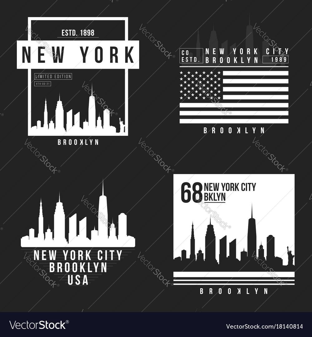 New york brooklyn typography for t-shirt print