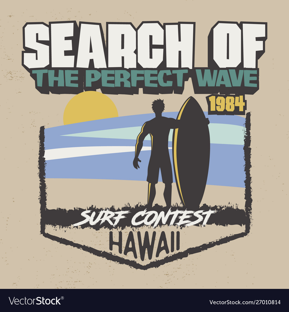 Trendy t-shirt design search perfect wave