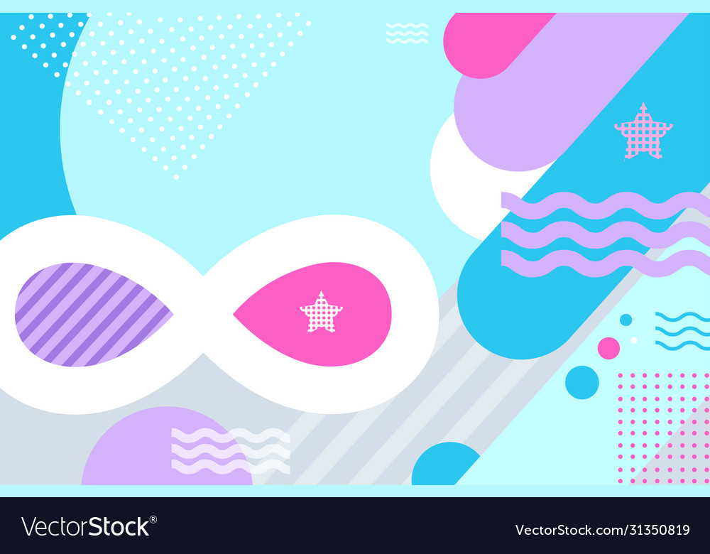 Abstract modern geometric bright background